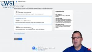 Budget setup- Google Smart Ads