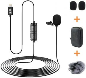 Lapel mic for video testimonial