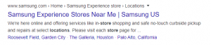 Location extensions- google ads extension example