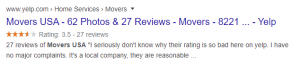Review extensions- google ads extension example