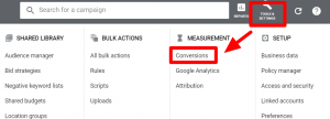 Go to tools conversions section- data driven attribution google ads