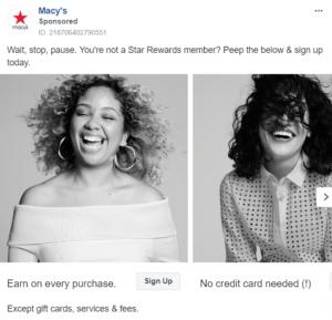 Macy's CTA Ad