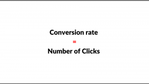 Step 3 Get the conversion rate and the number of clicks