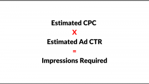 Step 4 Calculate the cost per click (CPC), click-through rate (CTR), and impressions