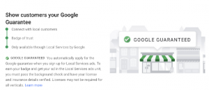 What is the Google Guarantee