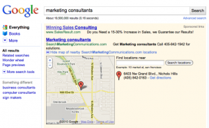 Google maps- location extension sample ad