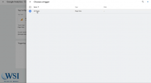 Google tag manager- add trigger