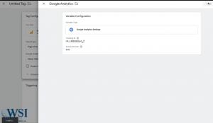 Google tag manager- copy the UA code