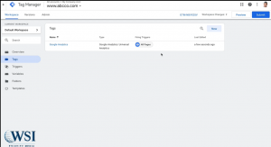 Google tag manager- submit and publish